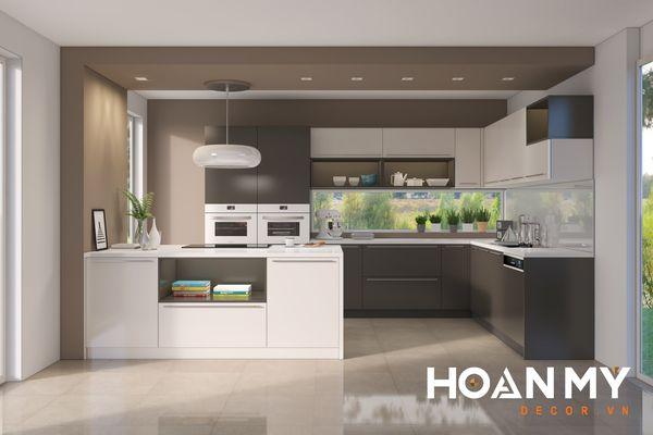 Tủ bếp màu ghi xám - Hình ảnh 9