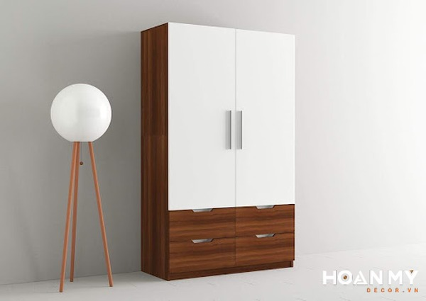 Tủ quần áo gỗ tự nhiên 2 cánh sẽ là một món đồ nội thất hoàn hảo